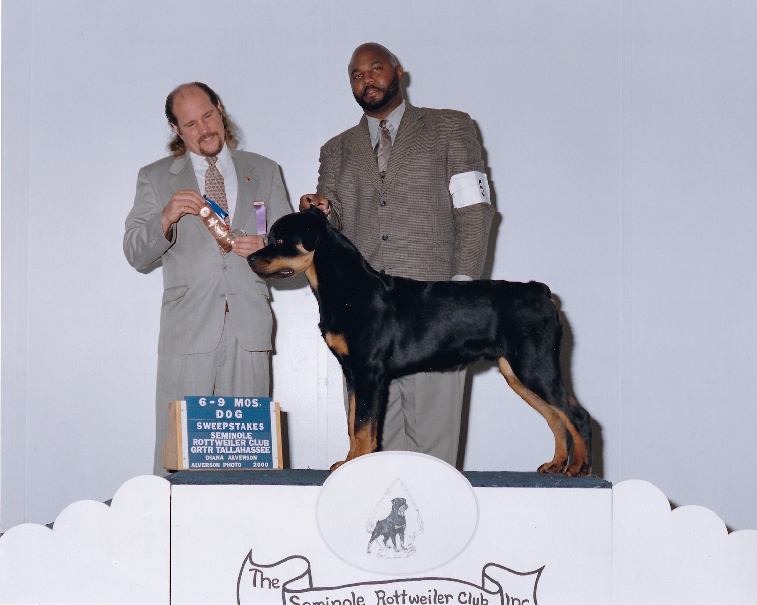 Marcus, 6-9 MOS, Dog, Sweepstakes Seminole Rottweiler Club GRTR Tallahassee,2000