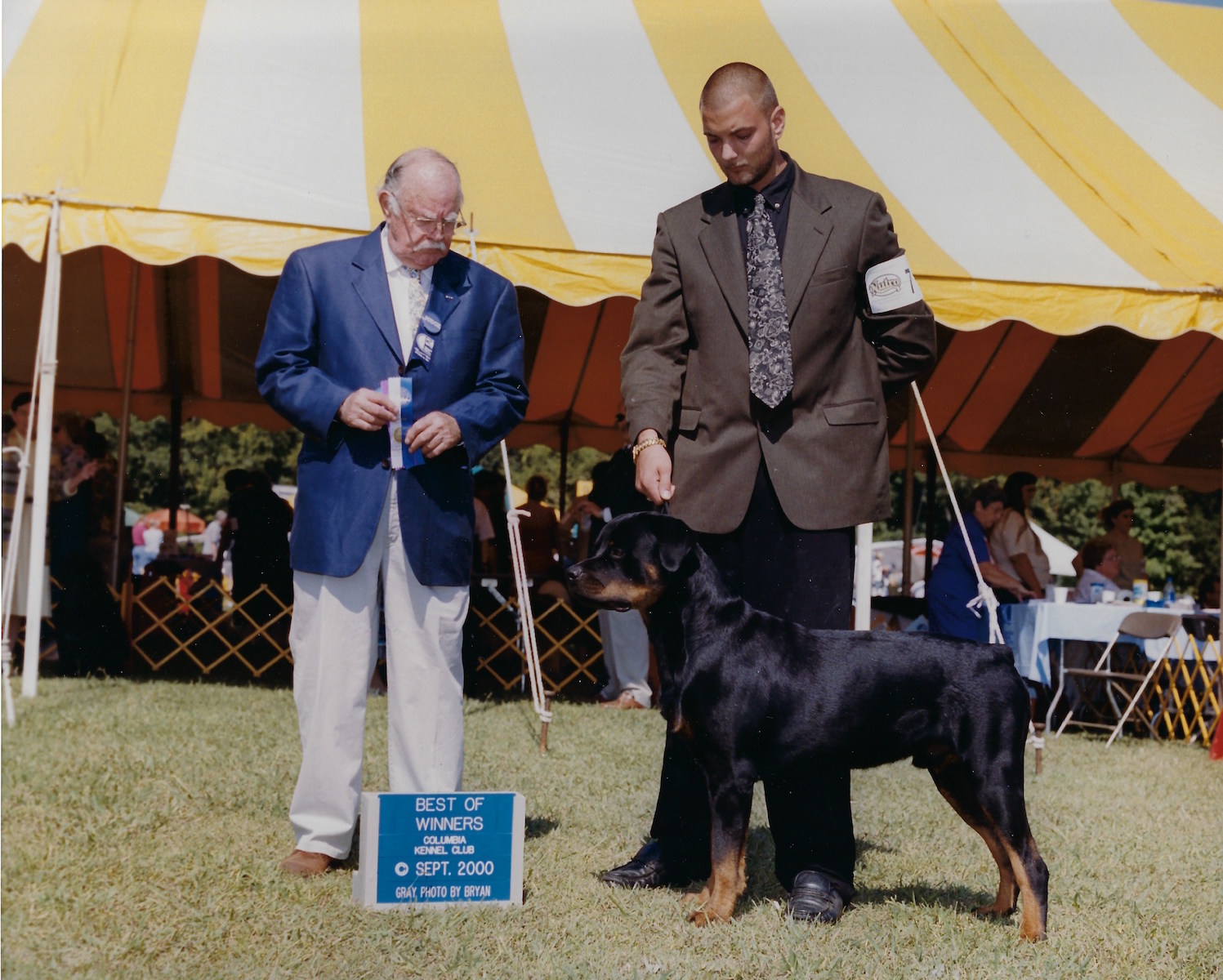 Marcus, Best of Winners, Columbia Kennel Club, Sept 2000, Gray, Photo by Bryan