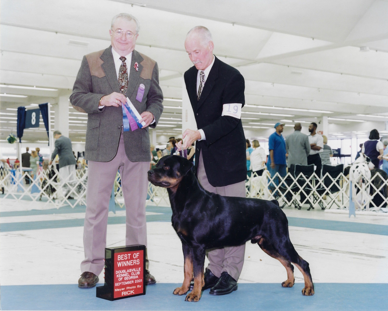 Marcus, Best of Winners, Douglasville Kennel Club of Georgia, September 2001, Meyer Photo by Rick